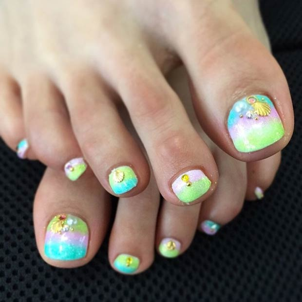 Little Girl Toe Nail Designs Image Information