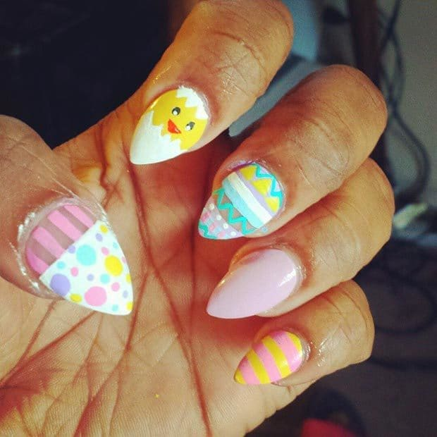 Ehmkay Nails Shy Bunny Easter Nail Art: 50 Epic Easter Nail Designs To Look Gorgeous