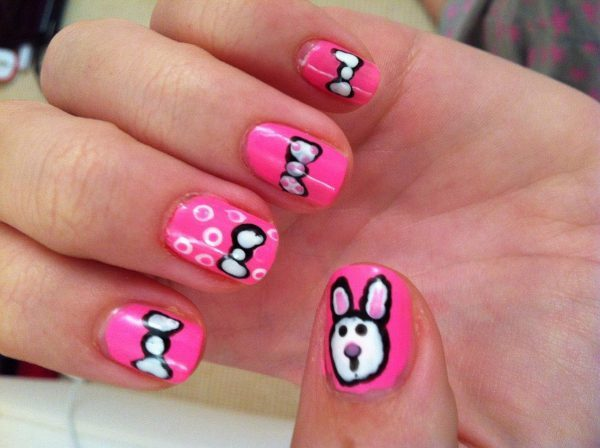 bunny nails bunny nails nail designs idea what little girl