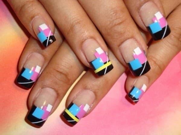 Cubism Nail Art
