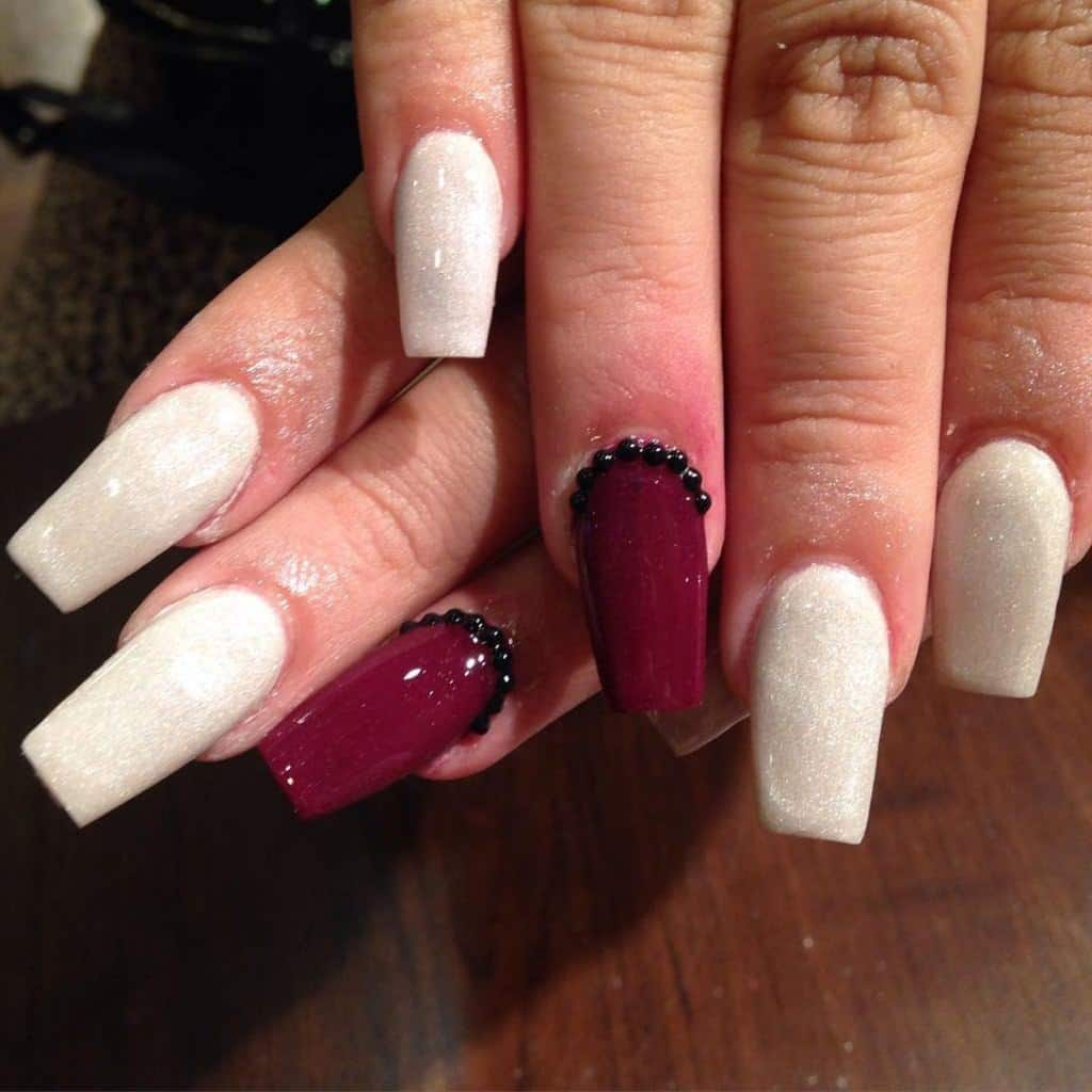 Mulberry Accent Nail Beautiful Designs