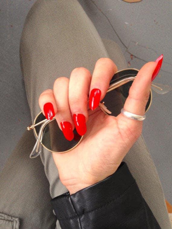 Acrylic Nail Red