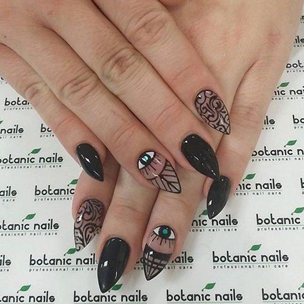 Black Nail Designs 11