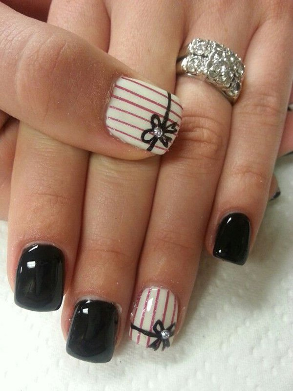 cool black nails design