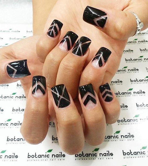 Black Nail Designs 13