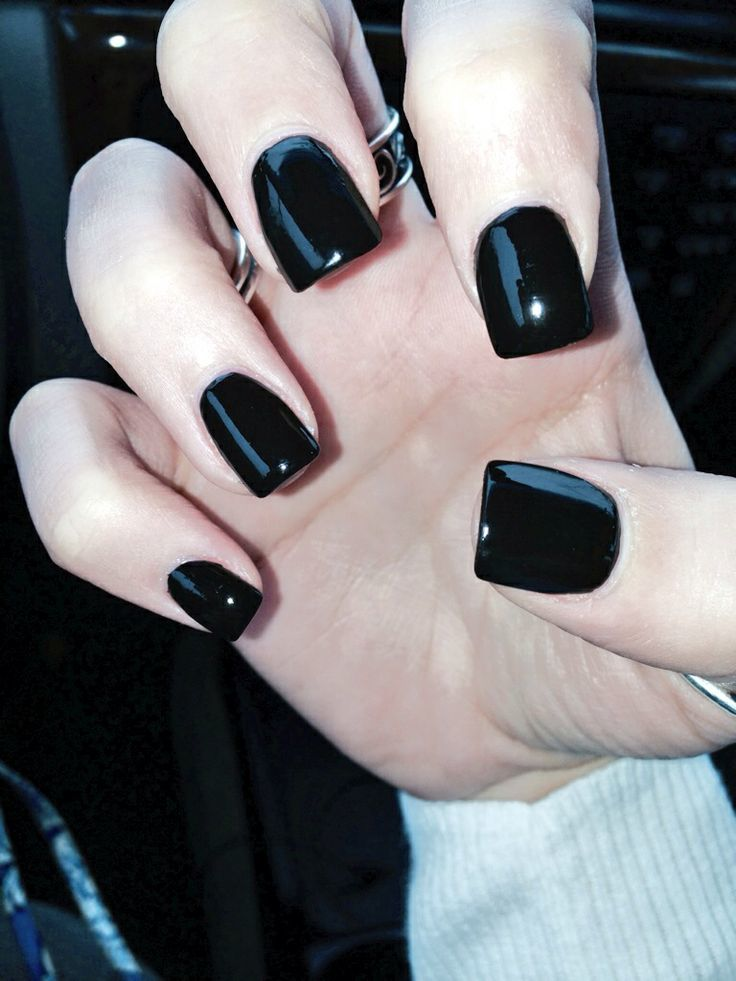 Nail Glossy Black for women