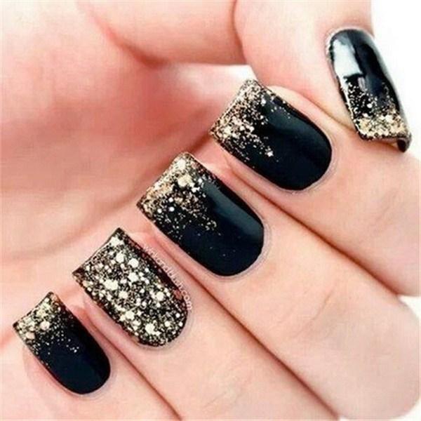 Black Nail Designs 24
