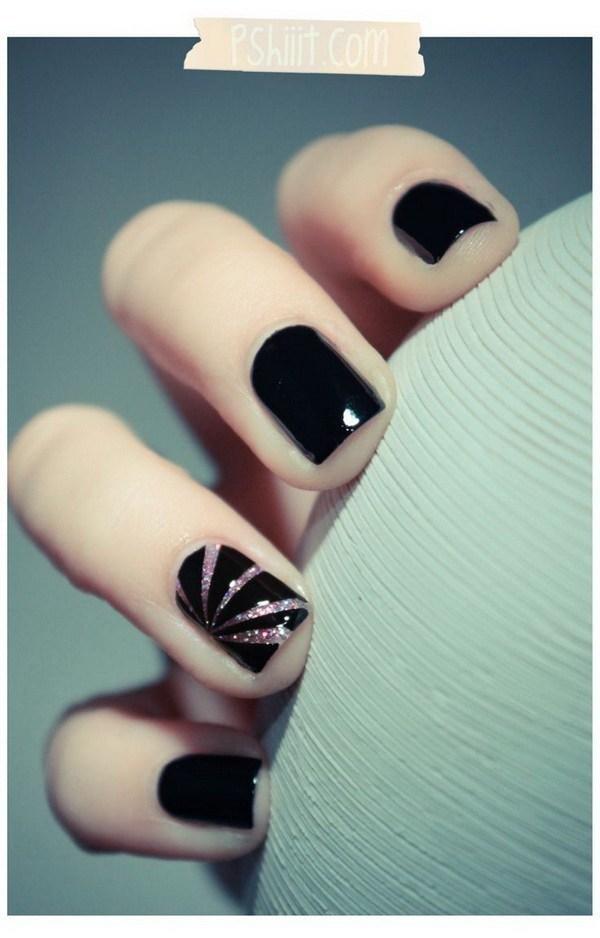Pink Tornado black nail