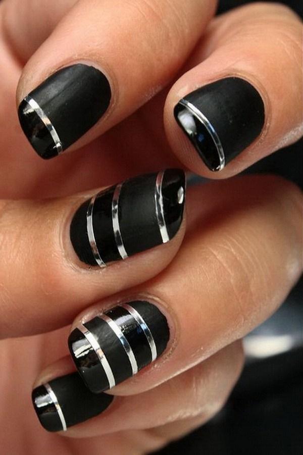 Black Nail Designs 31