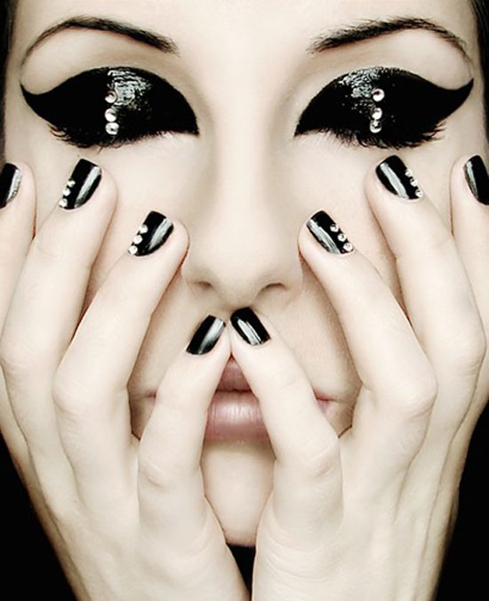 50 boldest black nail designs to stand out of the crowd black nail designs 36 prinsesfo Choice Image