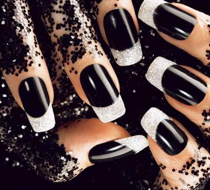 50 boldest black nail designs to stand out of the crowd black nail designs 4 prinsesfo Gallery