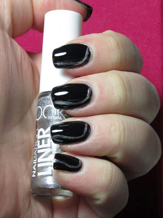 Black Nail Designs 45 - 50 Boldest Black Nail Designs To Stand Out Of The Crowd