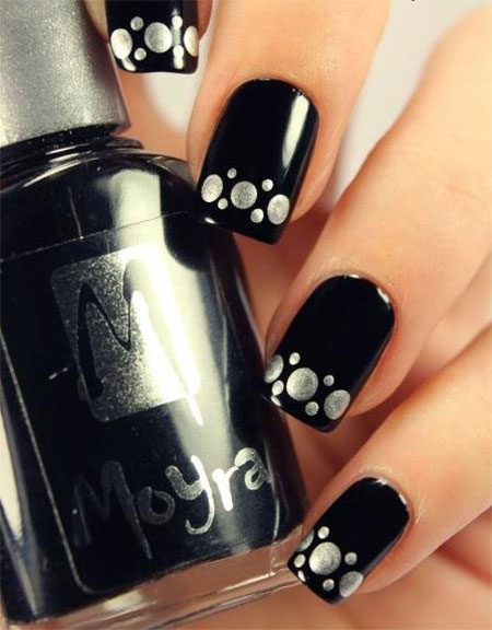 Black Nail Designs 48 - 50 Boldest Black Nail Designs To Stand Out Of The Crowd