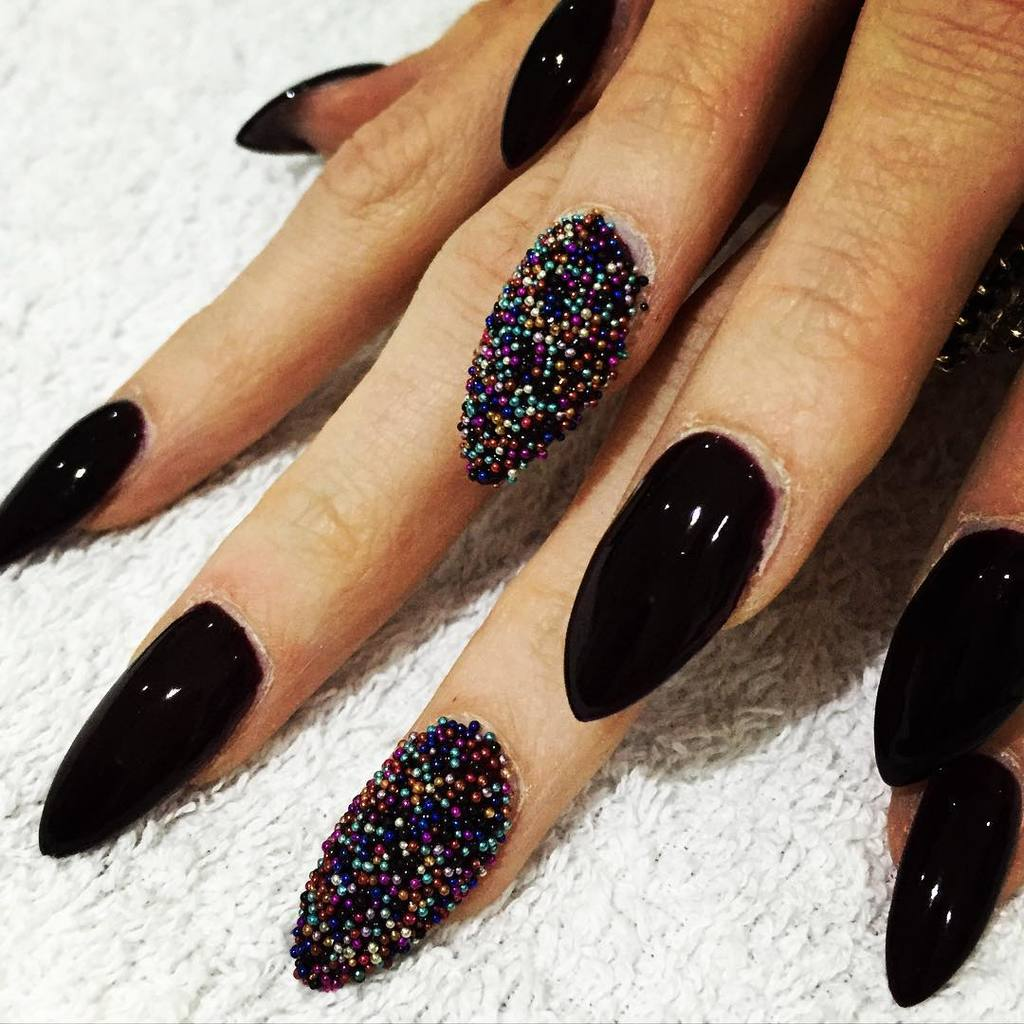 black nail designs you like - 50 Boldest Black Nail Designs To Stand Out Of The Crowd