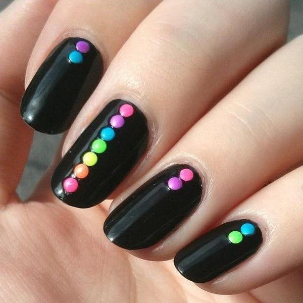 Black Nail Designs 55
