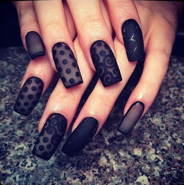 Chiffon Black Nail Designs