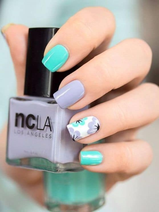 blue Short Nail Designs