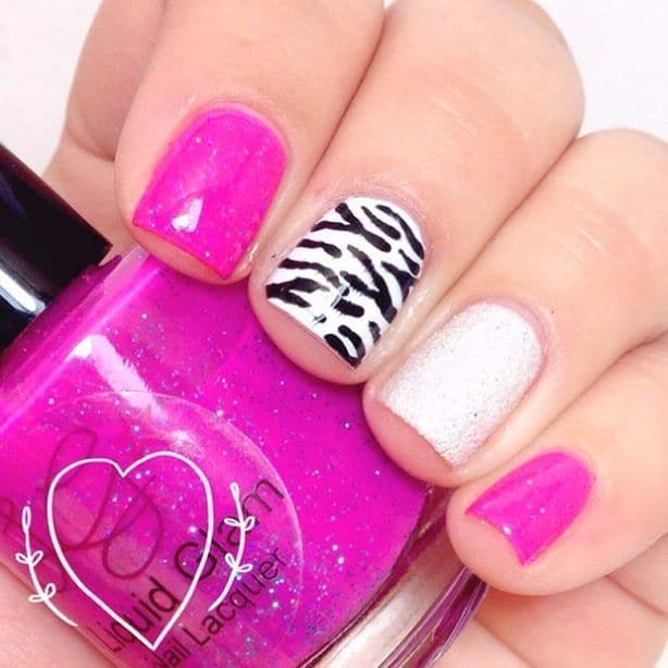Zebra Print Short Nail Designs
