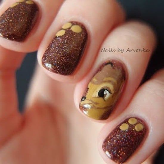 Bambi Theme Nail art