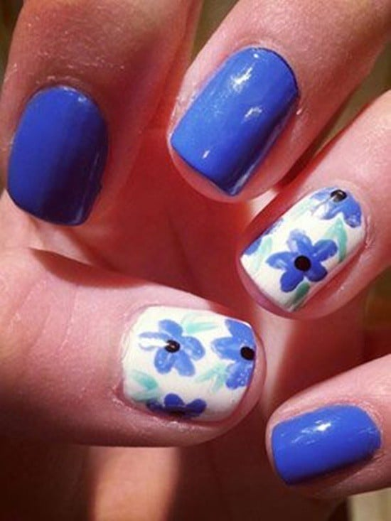 Lapis Blue Nail Designs