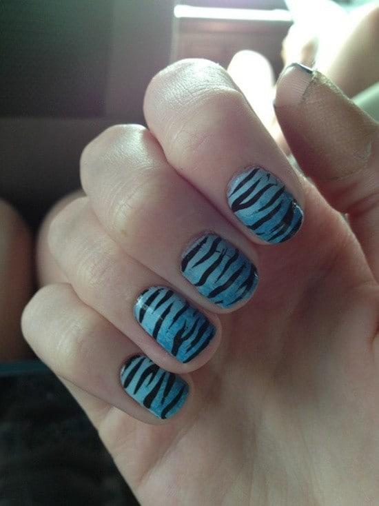 Zebra Print Short Nail