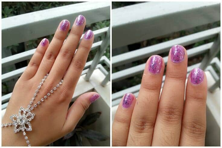 Lilac Purple Short Nail