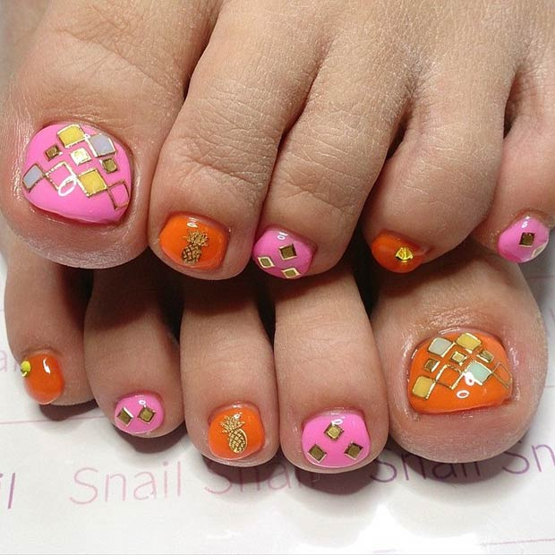 50 cutest toenail design ideas for any picky girl toe nail designs 23 prinsesfo Image collections