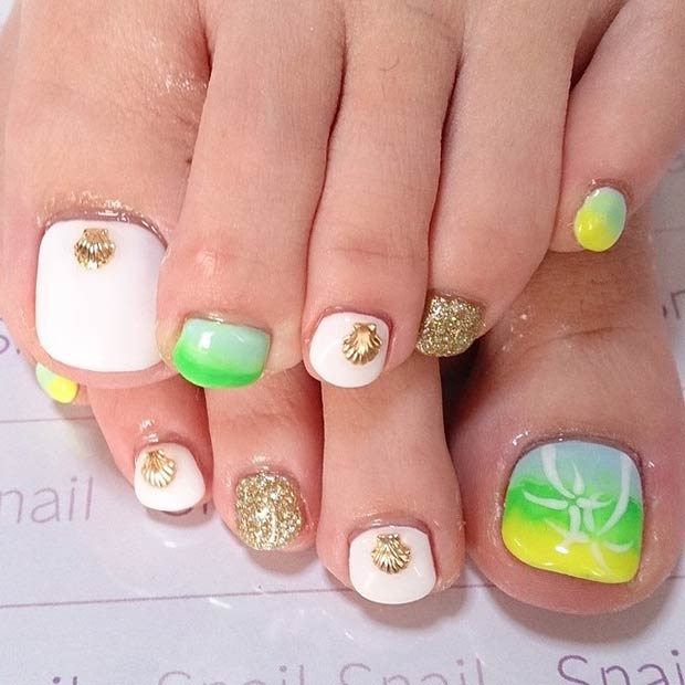 Toe Nail Designs with Summer Vibes