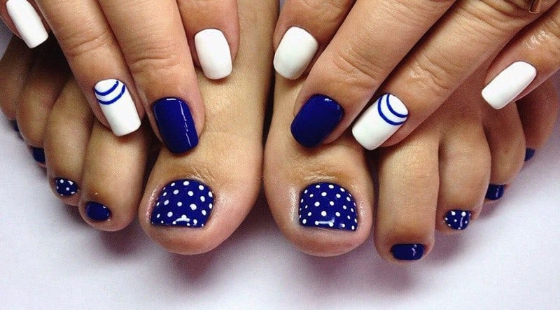 blue Toe Nail Designs