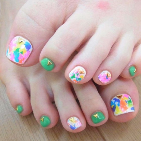 Color Festival nail design