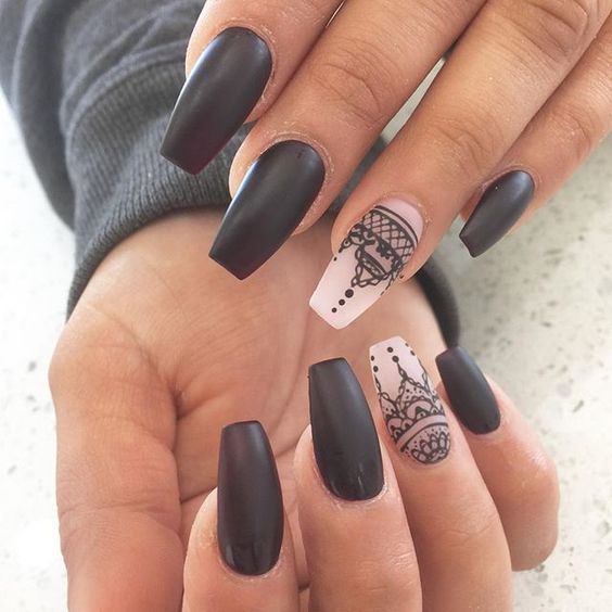 black and white nail designs 19