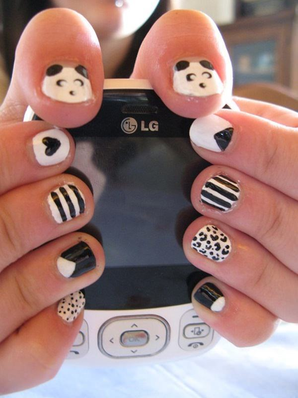 black and white nai with panda