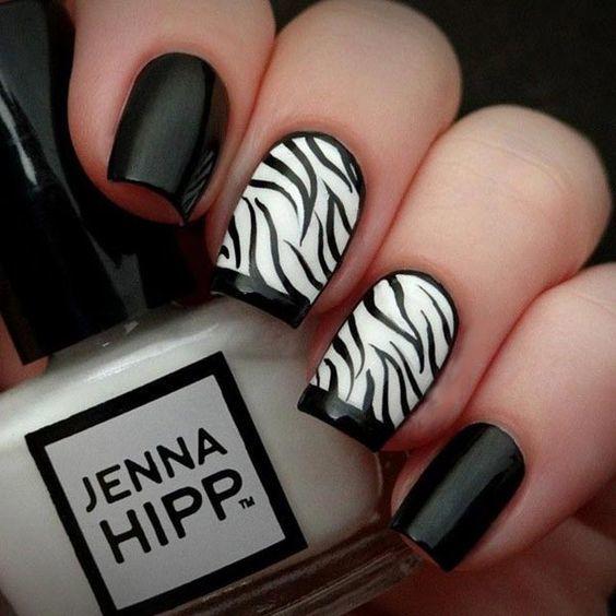 Zebra Nail design
