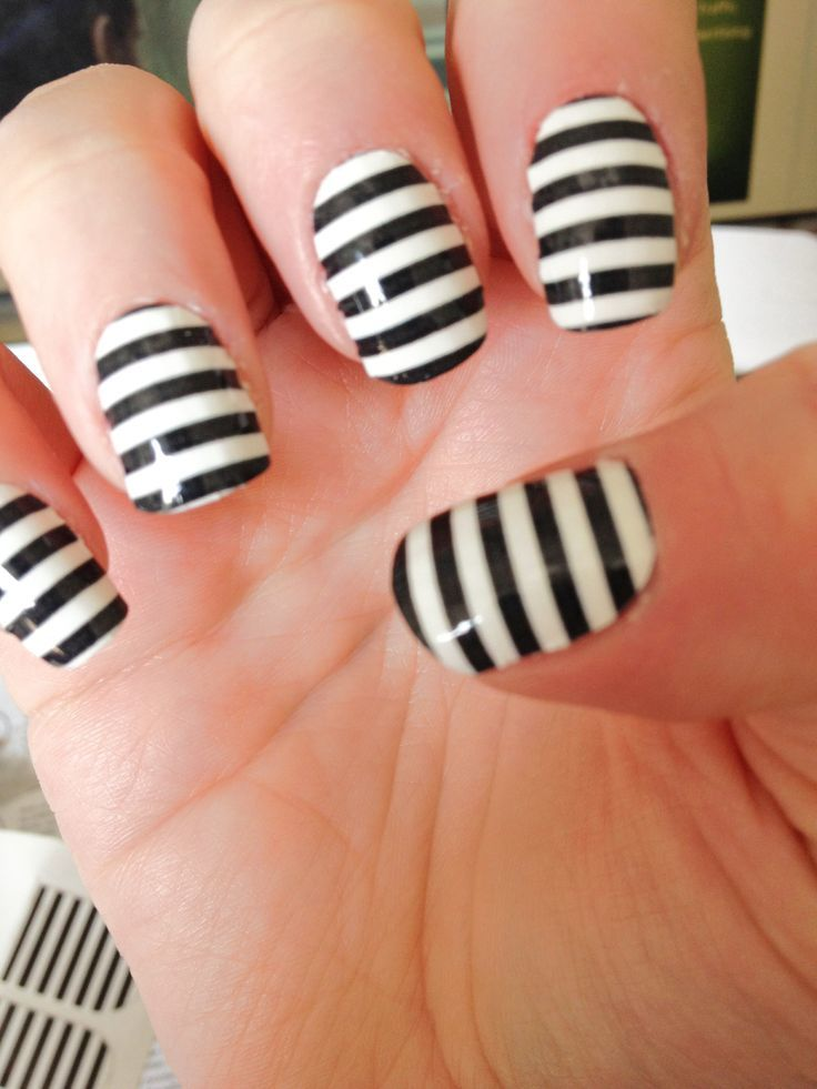 black and white nail designs 29