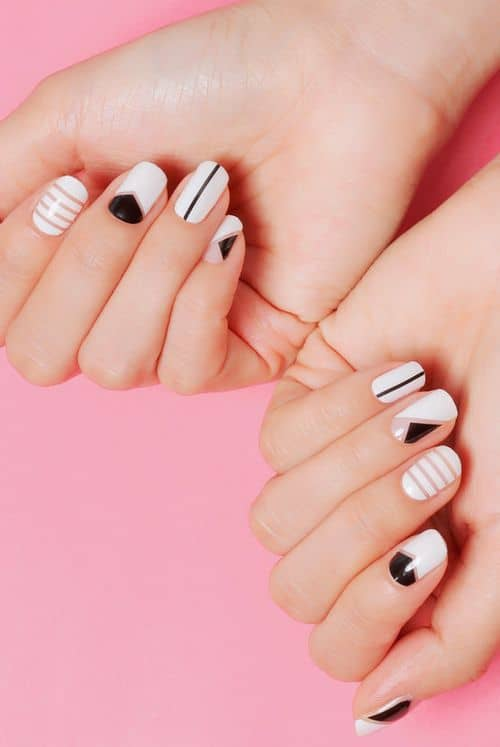 Pattern Negative nail design
