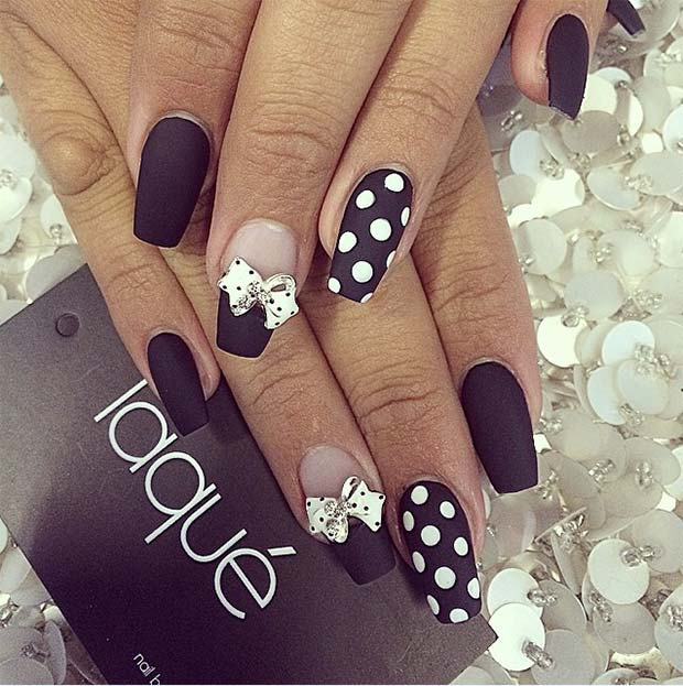 Polka Dots & Bow Ties nail
