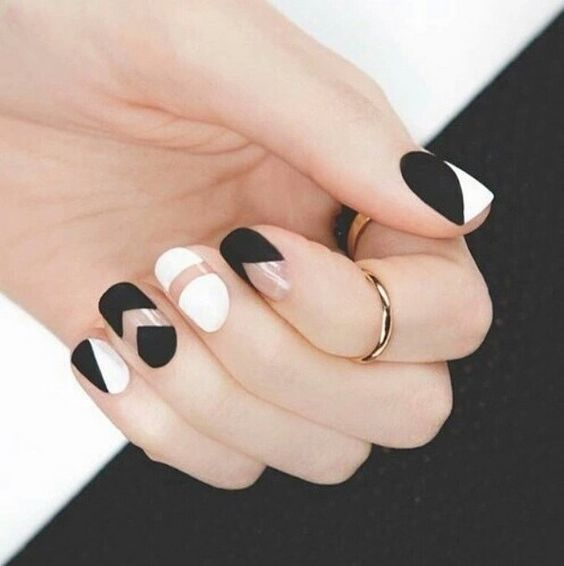 black and white nail designs 4