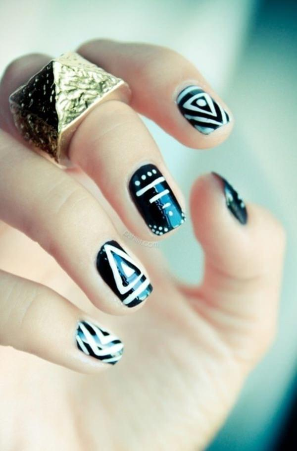 black and white nail designs 47