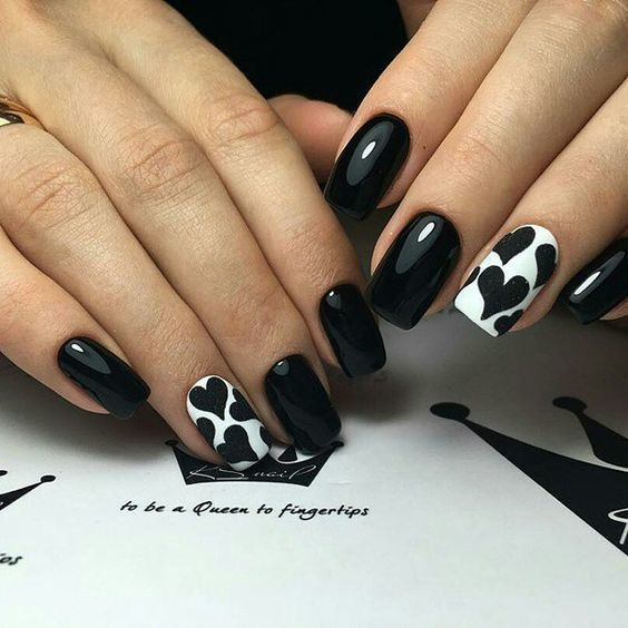 black and white nail designs 8