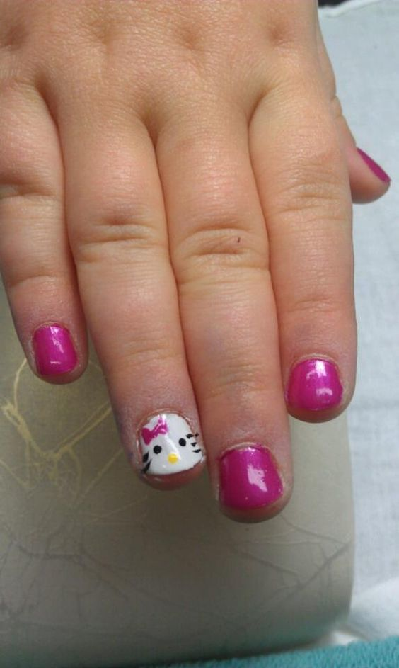 Tiny Claws Adorable Little Girl Nail idea - 20 Cute & Easy Nail Designs For Little Girls - NailDesignCode