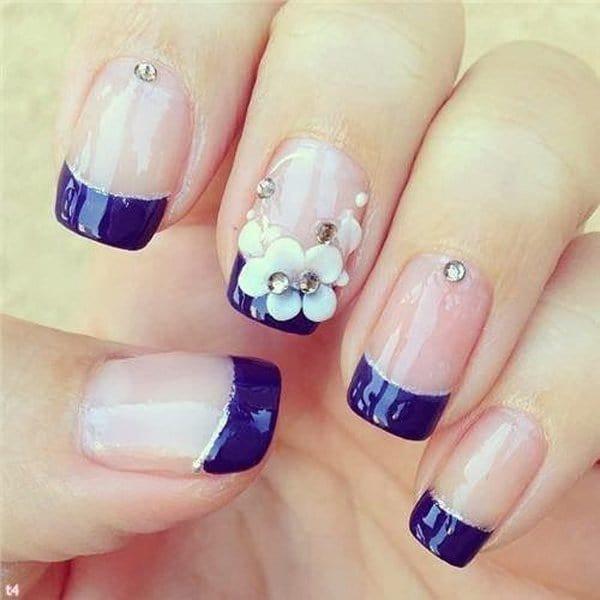 Blue Nail Designs 10