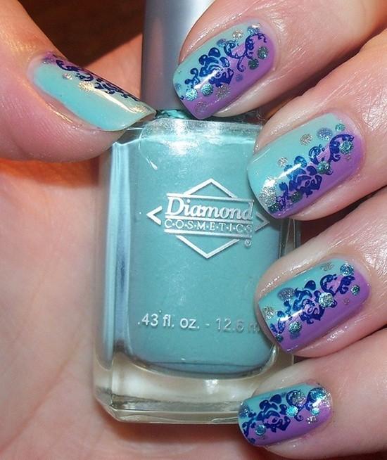 Blue Nail Designs 13