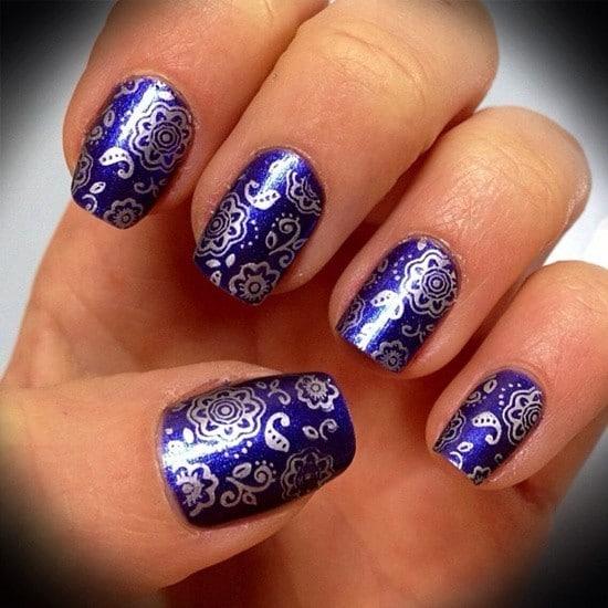 Blue Nail Designs 23