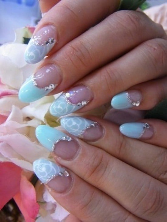 royal blue nail designs