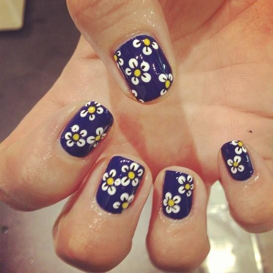 Blue Nail Designs 34