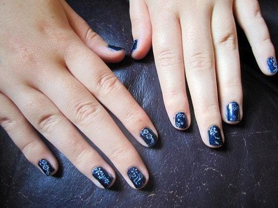 Blue Nail Designs 38