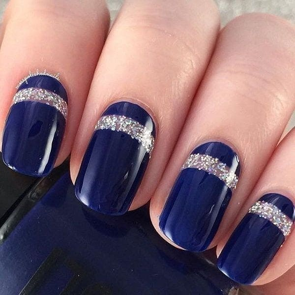 Phthalo Blue nail design