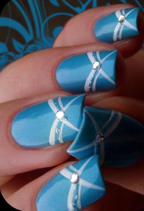 Duke Blue nail