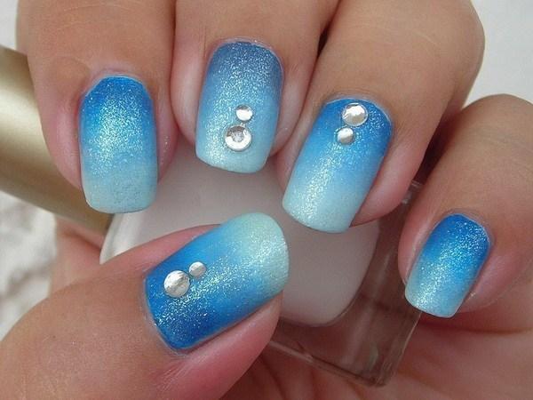 Blue Nail Designs 45