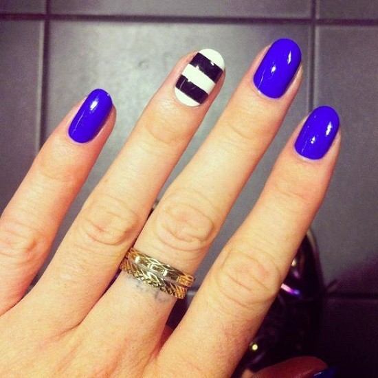 Palatinate blue nail designs